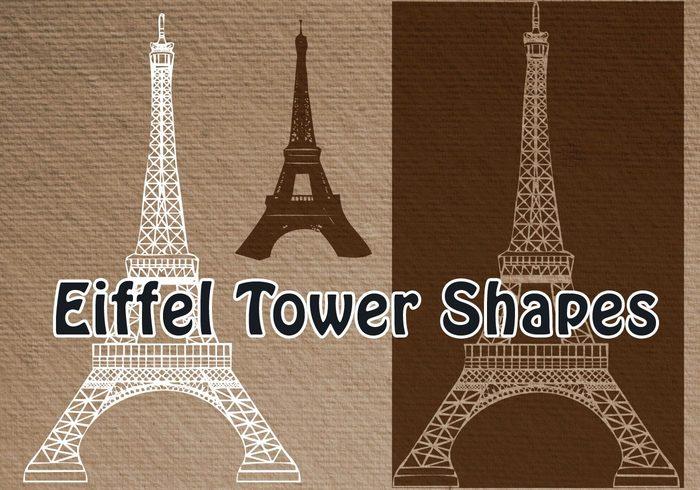 法国埃菲尔铁塔ps形状