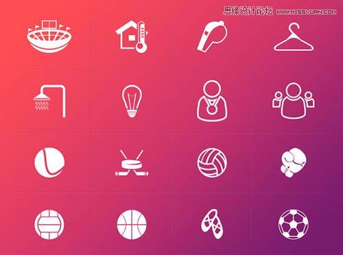 13組國外優質的體育圖標素材免費下載