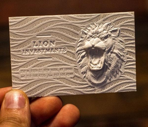 10款国外创意风格的3d浮雕名片设计欣赏