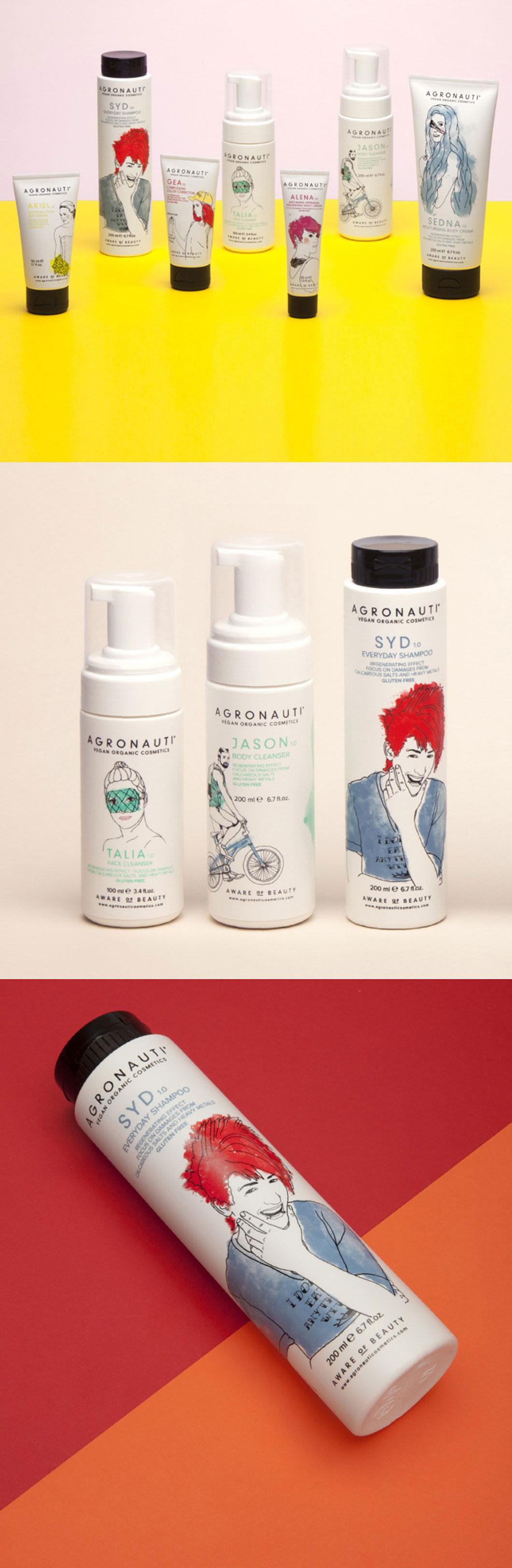 如何用現代插畫設計化妝品包裝設計