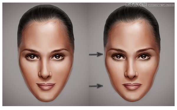 photoshop给光滑的人物面部添加皱纹效果(4)