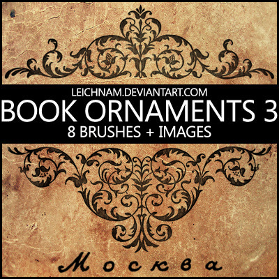 高档欧式花纹图案ps笔刷 - photoshop笔刷免费下载 - 专业的素材下载