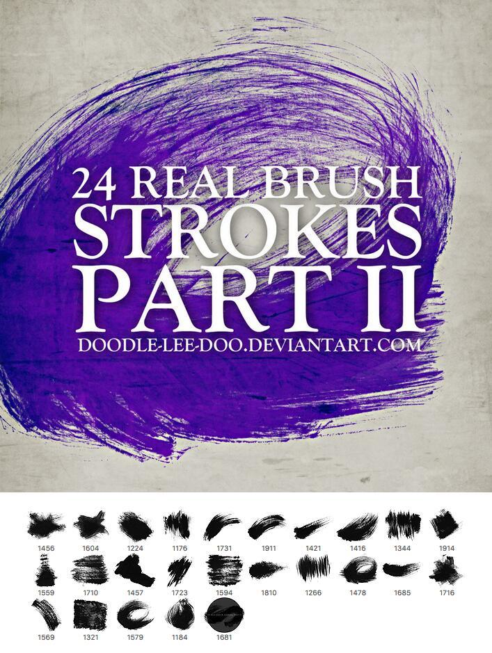 24款油漆喷溅和涂抹效果PS笔刷