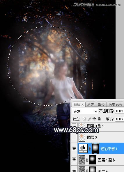 Photoshop给森林中的女孩添加唯美逆光效果,PS教程,思缘教程网