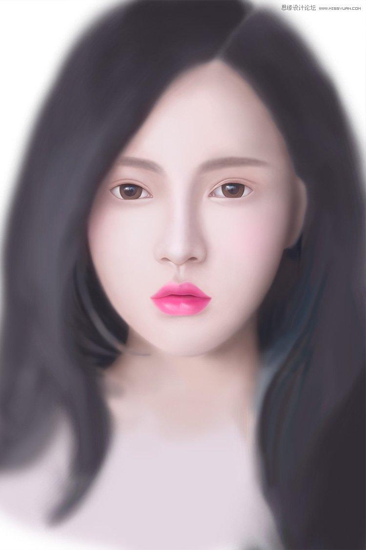 Photoshop繪製清純美麗的女孩教程