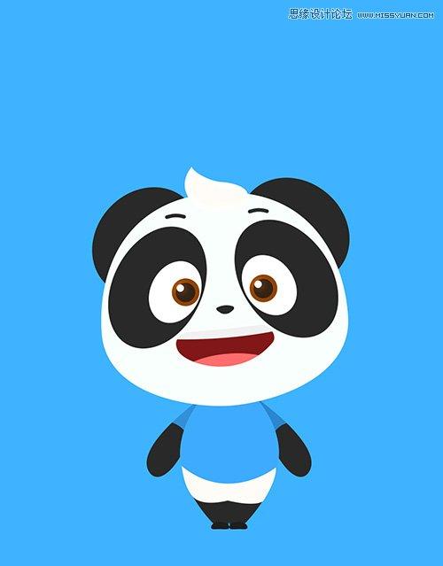 Photoshop繪製萌萌可愛的3D卡通熊貓