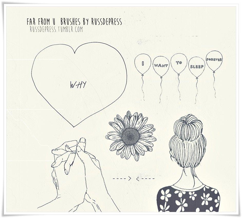 心形气球等爱情装饰PS笔刷