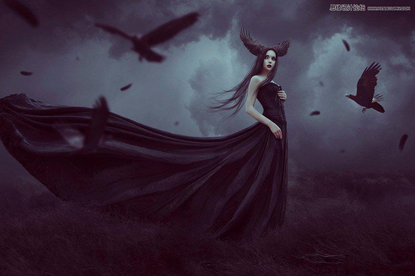 Photoshop合成哥特式主題風格的女巫場景圖