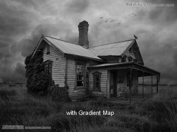 Photoshop合成恐怖效果的鬼屋城堡教程