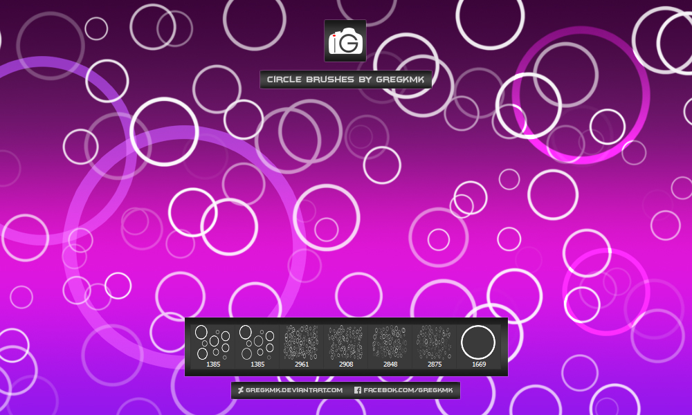 圆圈组成的图像图形PS笔刷