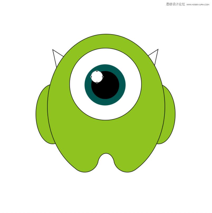 Photoshop巧用布爾運算繪製可愛的小怪獸