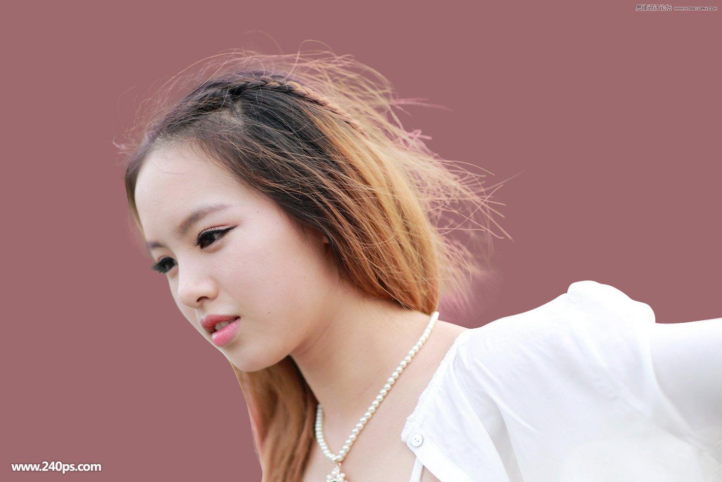 photoshop详细解析如何抠出美女细头发丝