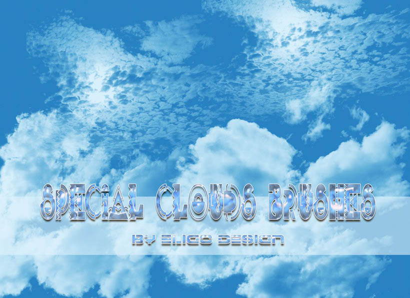 白云和云彩PS笔刷
