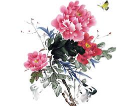 Illustrator绘制中国风牡丹花教程