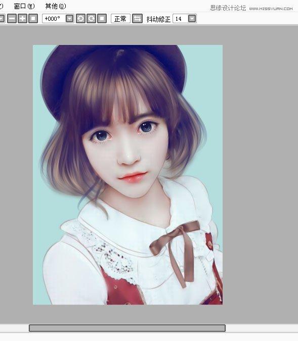 photoshop把可爱美女照片转为手绘效果