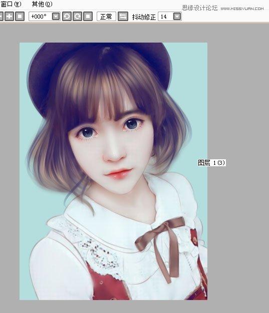 photoshop把可爱的女孩生活照转手绘处理
