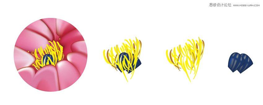 Illustrator繪製中國風牡丹花教程