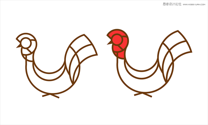 illustrator巧用黄金分割绘制鸡年创意图像(3)