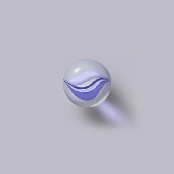 Photoshop製作立體效果的透明玻璃彈珠