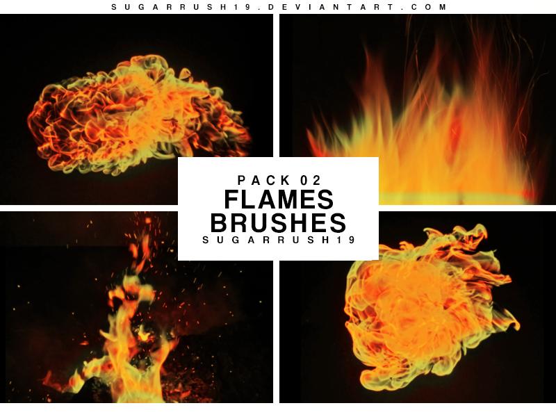 燃烧火焰和火苗装饰PS笔刷