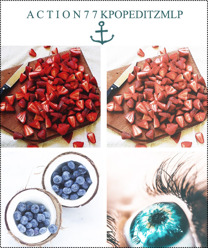 美食照片暖色艺术效果PS动作