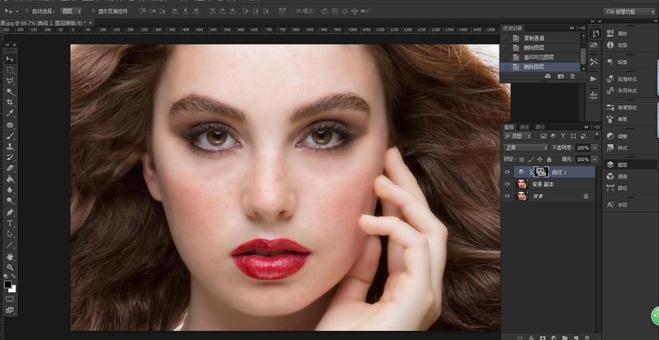 photoshop给电商模特照片后期精修磨皮(2)