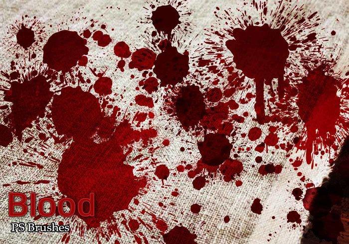 血迹喷溅特效背景PS笔刷