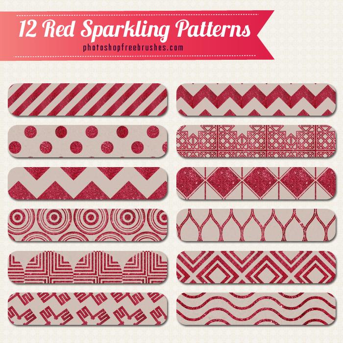 12款红色复古背景PS填充图案
