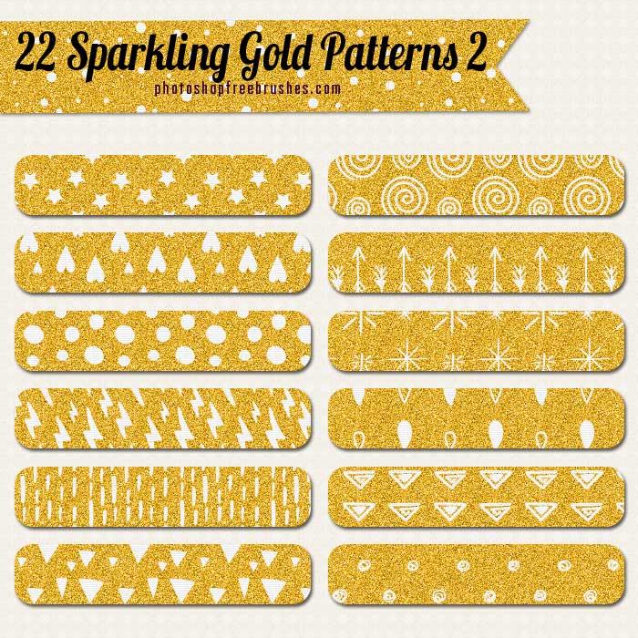 22金色涂鸦背景PS填充图案