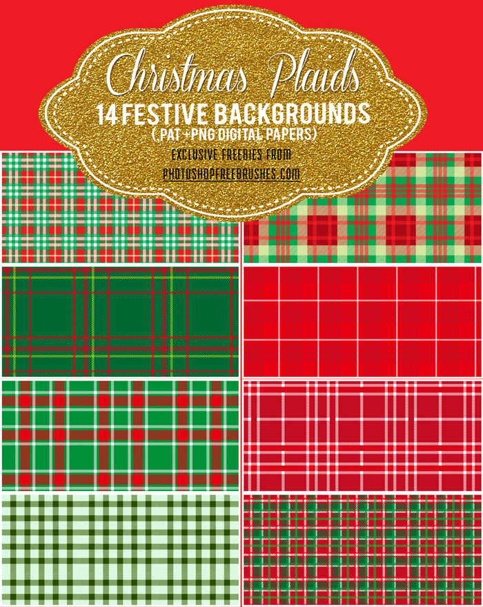 圣诞节古典背景PS填充图案