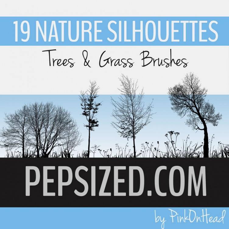 19款枯树和树木PS笔刷