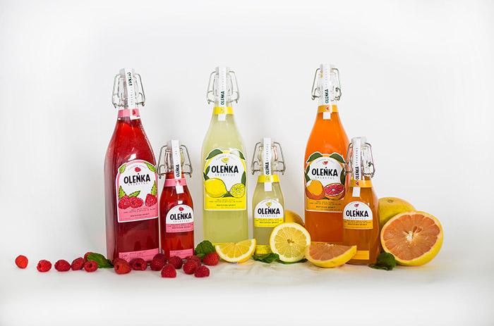 13张olenka手绘风格果汁包装设计欣赏