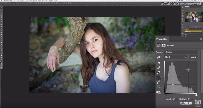 Photoshop快速把人像照片变成电影胶片效果