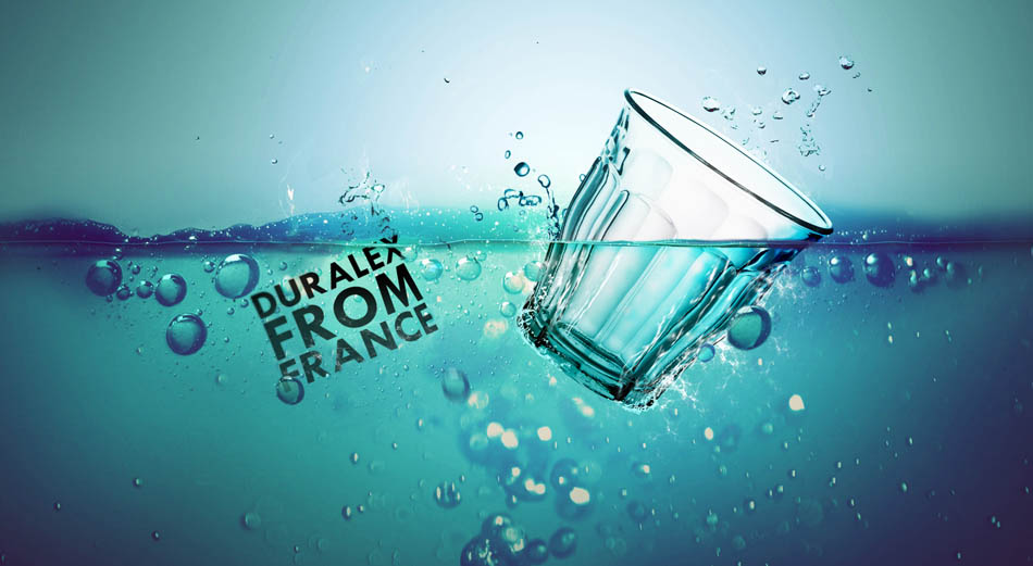 Photoshop創意合成水杯入水後期合成思路