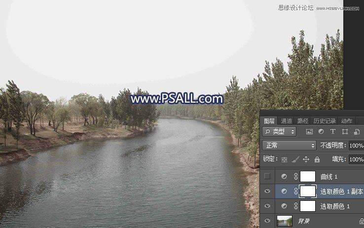 Photoshop把河流外景照片添加唯美夕阳景色,PS教程,th7.cn