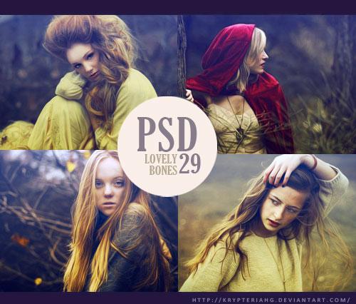 人像添加甜美逆光效果PSD调色图层