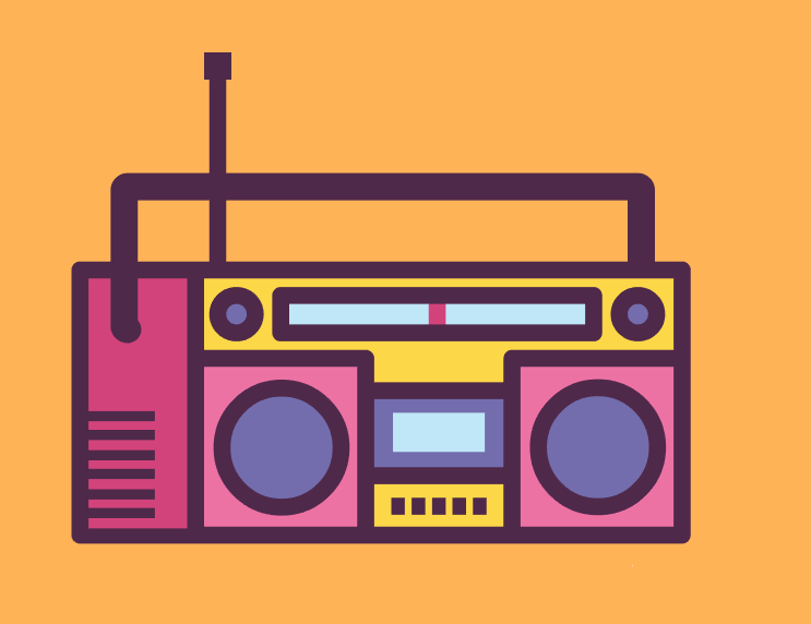 illustrator绘制可爱复古风格的录音机图标教程
