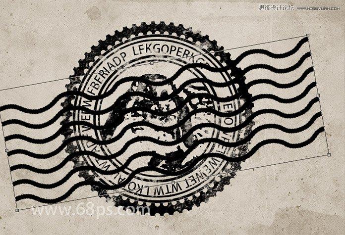 photoshop制作颓废的邮票邮戳特效效果,ps教程,思缘教程网