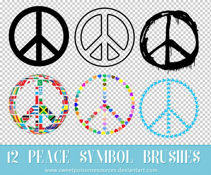 创意的和平符号图标PS笔刷