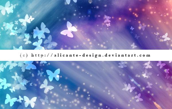梦幻光斑和蝴蝶装饰PS笔刷