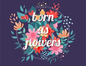 Illustrator绘制矢量风格的花丛文字效果