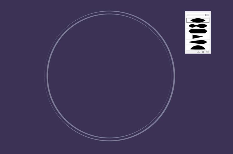 圆形关系矢量图