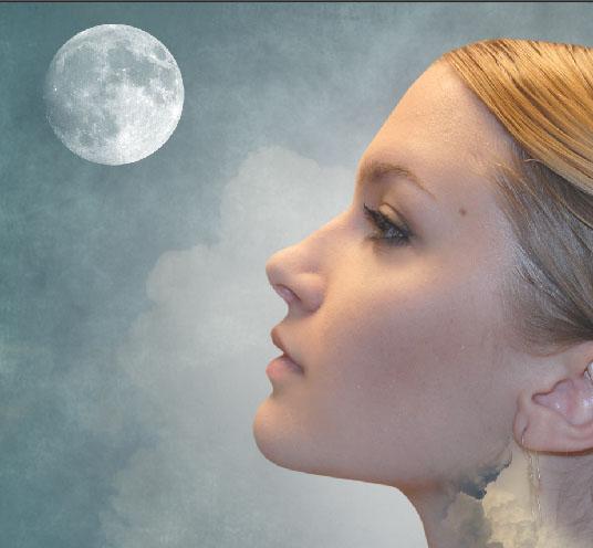 Photoshop合成創意的人像和星空二次曝光效果