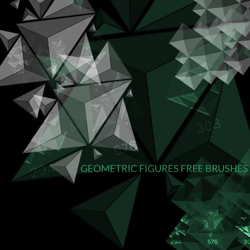 立体几何图形形状PS笔刷