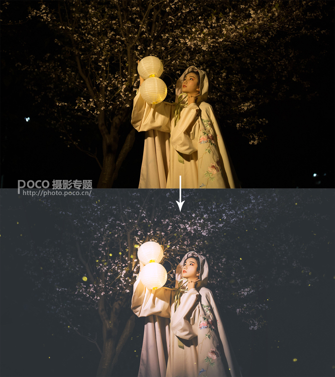 Photoshop调出人像唯美大气的路边夜景效果,PS教程,思缘教程网