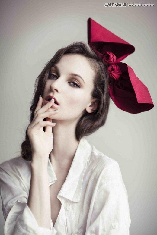 Photoshop繪製可愛風格的美女Q版頭像