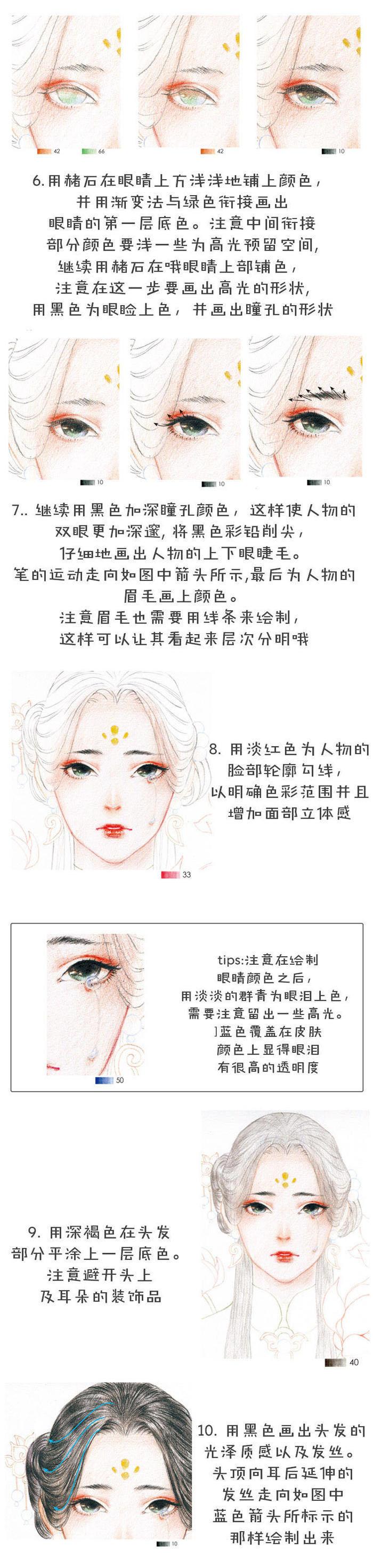 详细解析古风女子图文手绘插画教程