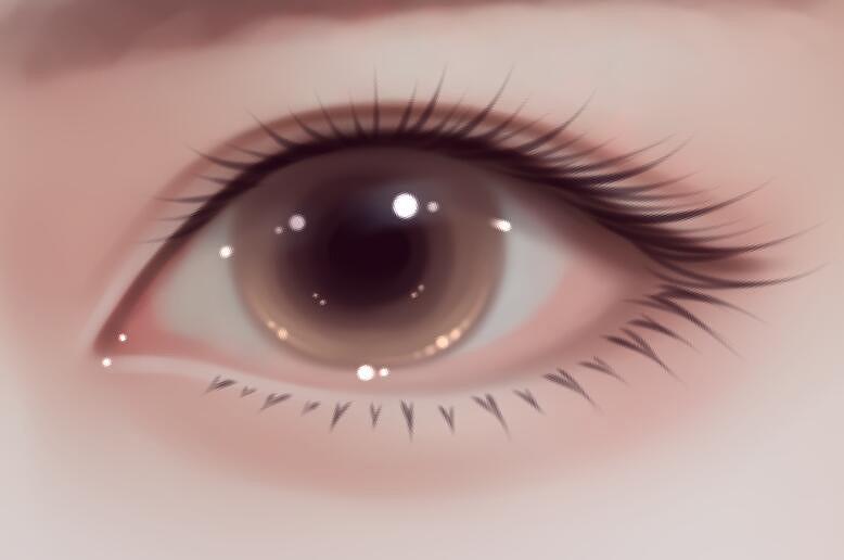 photoshop详解人像绘画中如何绘制明亮的眼睛图片