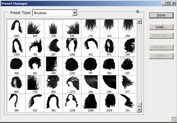 美女头发和发型PS笔刷