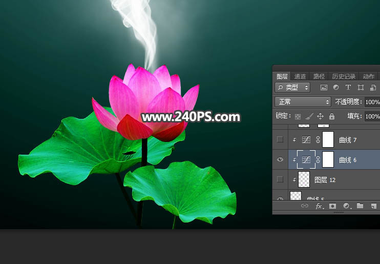 Photoshop合成藍色風格的蝴蝶仙子出生場景